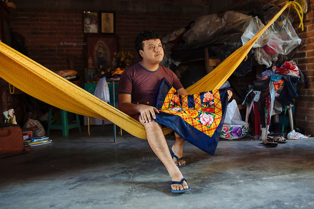 Angelo Martinez Linares, 24, in Juchit&aacute;n, Mexico.<br /> <br /> In Juchit&aacute;n in the southern state of Oaxaca, Mexico, the world is not divided simply into gay and straight, the locals make room for a third category, whom they call &ldquo;muxes&rdquo;.<br /> <br /> Muxes are men who consider themselves women and live in a socially sanctioned netherworld between the two genders. &ldquo;Muxe&rdquo; is a Zapotec word derived from the Spanish &ldquo;mujer&rdquo; or woman; it is reserved for males who, from boyhood, have felt themselves drawn to living as a woman, anticipating roles set out for them by the community.<br /> <br /> They are considered hard workers that will forever stay by their mothers side, taking care for their families operating as mothers without children of their own.<br /> <br /> Not all muxes express they identities the same way. Some dress as women and take hormones to change their bodies. Others favor male clothes. What they share is that the community accepts them.