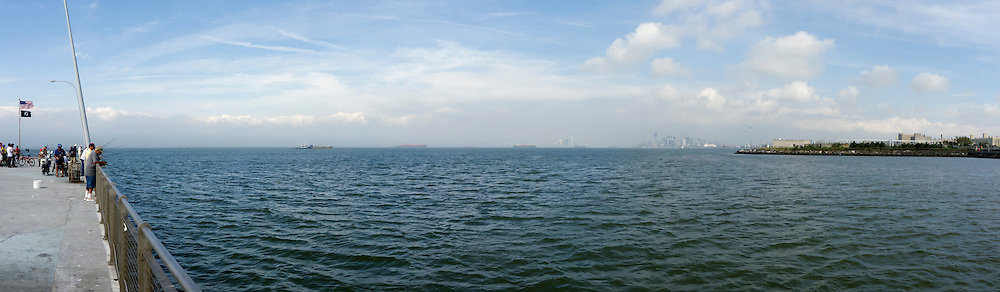 Panorama of New York Bay.