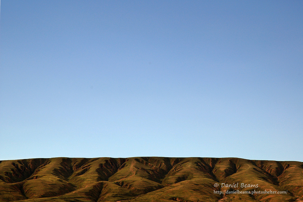 Hills and sky near Tihuanacu, La Paz, Bolivia