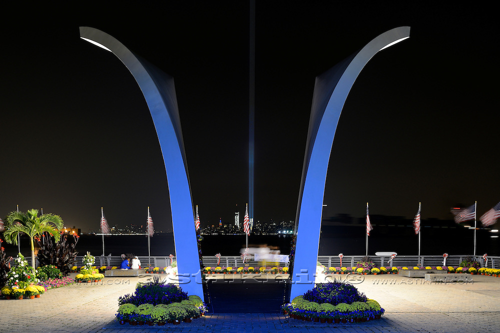 This waterfront memorial dedicated to Staten Islanders lost on 9/11 frames where the towers stood.
