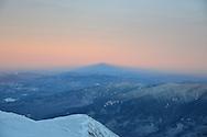 Mount Washington's shadow at sunset.