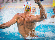 9 IVOVIC Aleksandar MNE<br /> Montenegro (White) Vs Romania (Blue) Men<br /> LEN European Water Polo Championships 2014 - July 14-27<br /> Alfred Hajos -Tamas Szechy Swimming Complex<br /> Margitsziget - Margaret Island<br /> Day04 - July 17<br /> Photo Giorgio Scala/Inside/Deepbluemedia