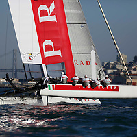 Practice Session action with team Luna Rossa – Swordfish. Mandatory Credit: Dinno Kovic