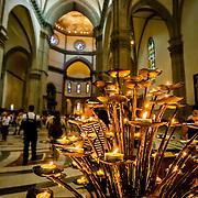 Tea light prayer candles, Duomo, Florence, Italy