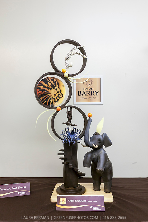 Show Piece: Kevin Francisco. Cacao-Barry Callebaut Canadian Intercollegiate Chocolate Competition April 21 - 22, 2012.