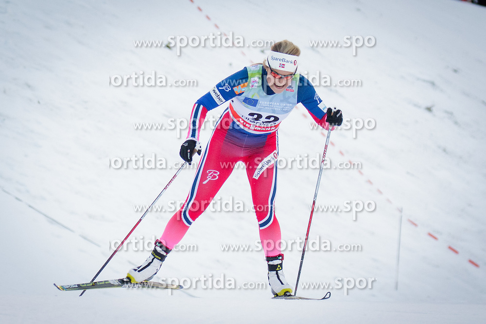 Mari Eide (NOR) uring Ladies 1.2 km Free Sprint Qualification race at FIS Cross<br /> Country World Cup Planica 2016, on January 16, 2016 at Planica,Slovenia. Photo by Ziga Zupan / Sportida