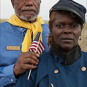 African American Buffalo Solder Reenactment<br />