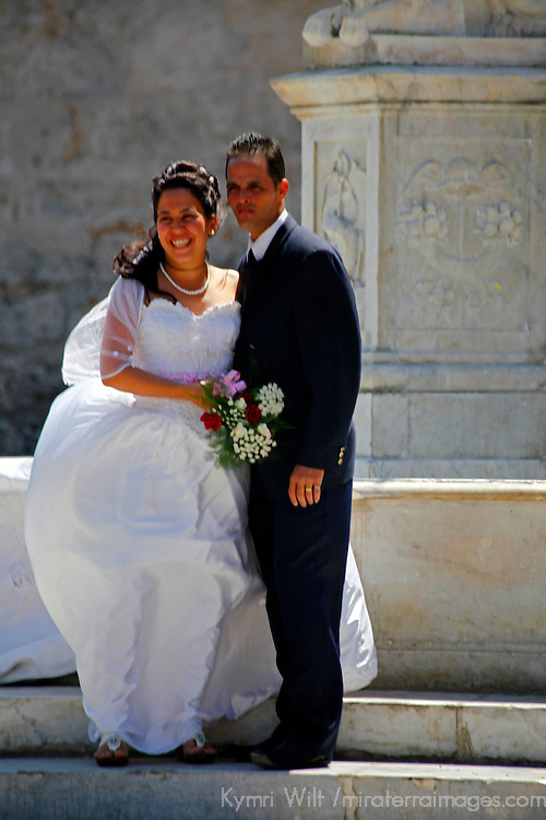 Central America, Cuba, Havana. Bride and Groom in Havana.