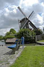 Windmolens in Weesp, Noord Holland, Netherlands