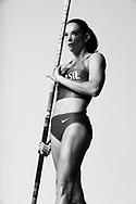 Sao Paulo, Brazil, May 24 of 2012: BRAZILIAN OLYMPIC ATHLETES: Fabiana Murer, pole vault world champion, during a photo shooting at a studio in Sao Paulo.  (Photo: Caio Guatelli)