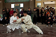 Taijiquan demonstration by students of the Taijiquan school in Chenjiagou  village.