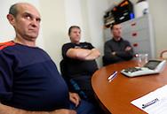 11/10/12 - THIERS - PUY DE DOME - FRANCE - Membres du comite d entreprise lors d une reunion de soutien aux licencies de l usine PRECITURN - Photo Jerome CHABANNE pour Le Monde