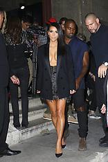 SEP 25 2014 Kim Kardashian & Kanye West in Paris