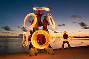 Fire Dance performance at Shangri-La Resort, Coral Coast, Viti Levu Island, Fiji.