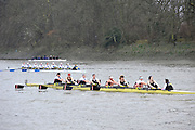London, Great Britain,   Thames RC. A, rowing past Chiswick Pier, during the 2012 Head of the River Race, raced over Rowing Course Championship course,  Mortlake to Putney  4.25 Miles, on the River Thames.   Saturday  03/03/2012} [Mandatory Credit: © Peter Spurrier/Intersport Images]