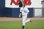 Ole Miss' Matt Smith (16) hits a solo home run in the first inning against Arkansas State at Oxford University Stadium in Oxford, Miss. on Wednesday, February 23, 2011.