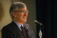 Robert George, a professor at Princeton University, addresses participants in the 2015 LCMS Life Conference Friday, Jan. 23, 2015, at the Hilton in Crystal City, Va. LCMS Communications/Erik M. Lunsford