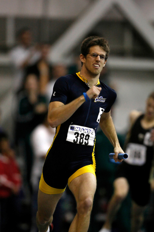 Windsor, Ontario ---14/03/09--- Keenan Geer of  the University of Windsor Lancers competes in the 4x400m relay at the CIS track and field championships in Windsor, Ontario, March 14, 2009..Claus Andersen Mundo Sport Images