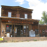 USA: Colorado: Montrose County: Bedrock: The historic Bedrock Store in the Paradox Valley in Southwest Colorado. Bedrock was established in 1883.