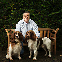 Hellingsbrough, SCOTLAND - SEPTEMBER 11: Scottish medium Gordon Smith at his home in Hellingsbrough. <br /> September 11, 2014  (Photo by Ross Gilmore)