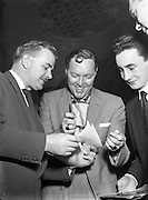 "Bill Haley - the Rock and Roll King visits Dublin.27/02/1957..Bill Haley (06/07/1925 – 09/02/1981) was one of the first American rock and roll musicians. He is credited by many with first popularizing this form of music in the early 1950s with his group Bill Haley & His Comets and their hit song ""Rock Around the Clock""."