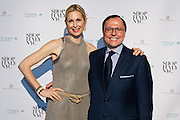 Kelly Rutherford, Actress, currently starring in Gossip Girl and Aniello Mussa, Italian Trade Commissioner for the U.S. SHOP ITALY NYC, promoted by the Ministry of Economic Development and organized by the Italian Trade Commission, celebrates Italian quality and heritage during SHOP ITALY NYC; an exciting one month long series of consumer shopping events, restaurant experiences and promotions throughout Manhattan.