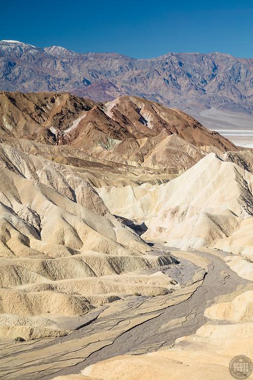 """""""Gower Gulch 1"""" - Photograph taken from Zabriskie Point of Gower Gulch in Death Valley, California."""