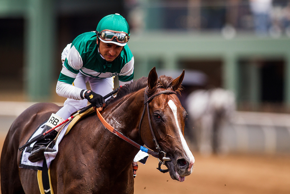 "June 13 2015: Talco with Rafael Bejarano up wins the Shoemaker Mile, a part of the Breeders' Cup ""Win and you're in"" series  at Santa Anita Park in Arcadia CA. Alex Evers/ESW/CSM"