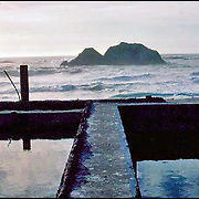 Sutro Baths, San Francisco, CA: A large portfolio of CA Ruins was published in California Magazine, 1982. This is the director's cut.
