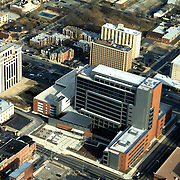 Aerial view of  New Castle County Court House, Wilmington, DE,