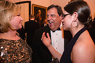 New Jersey Governor Chris Christie, center, attends the Bloomberg Vanity Fair White House Correspondents' Association dinner afterparty at the residence of the French Ambassador on Saturday, April 28, 2012 in Washington, DC. Brendan Hoffman for the New York Times