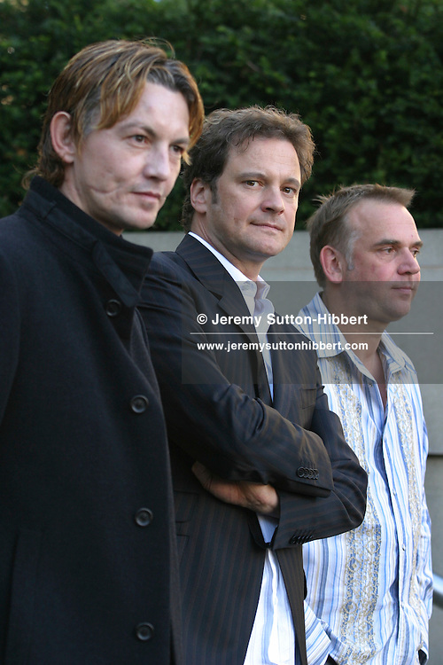 """Marc Evans, director (on right), with actors Colin Firth (centre) and Tommy Flanagan (left), at Edinburgh Film festival premiere of their new film """"Trauma""""..(9  pictures, non-exclusive)"""