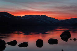 """Donner Lake Sunset 22"" - Photograph of a sunset shot from the north shore of Donner Lake in Truckee, California."