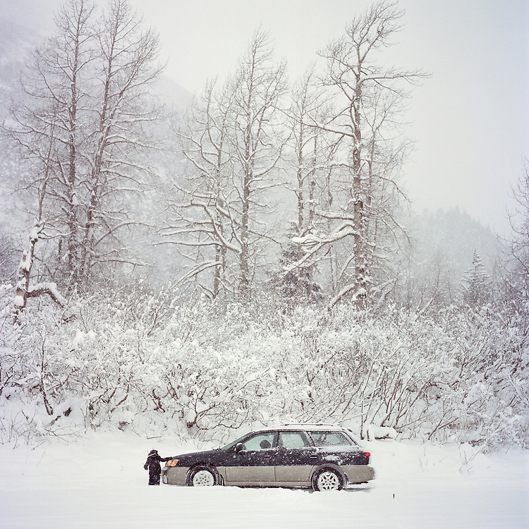 PORTAGE GLACIER, ALASKA - 2015: