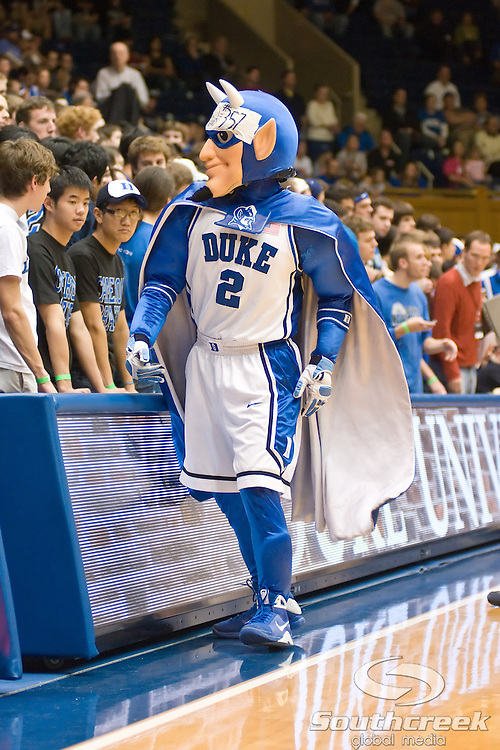 3 November 2009: Duke Blue Devil rallies the fans..The Duke Blue Devils defeat the Findlay Oilers 84 -48 in an exhibition game. Kyle Singler had 20 points as Duke wraps up it's pre-season.. Mandatory Credit:Mark Abbott / Southcreek Global