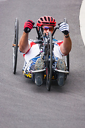 Queen Elizabeth Olympic Park, London. September 13th 2014. Wounded servicemen and women from 13 different countries compete for sporting glory during the cycling competition at the Invictus Games.