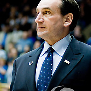 13 February  2009: Duke head coach Mike Krzyzewski take the court on his Birthday and 1000th home game at Duke..Duke beats Maryland 77-56 for 1st place in the ACC at Cameron Indoor stadium, Durham NC.Mandatory Credit: Mark Abbott / Southcreek Global