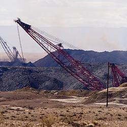 Draglines operate at the Navajo Mine near Fruitland, N.M.