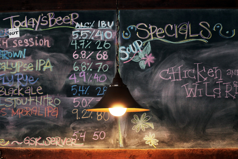 The beer board at 10 Barrel Brewing Company. Craft beer permeates the culture in Central Oregon city of Bend, with 10 breweries serving pints, growlers and kegs to a community of less than 90,000. Photographed Wednesday, April 25, 2012. Assignment ID 30125094A