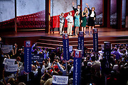 Rep. Paul Ryan and family wave to the audience at the Republican National Convention in Tampa, Florida, August 29, 2012.