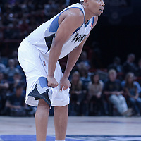 06 October 2010: Minnesota Timberwolves guard Sebastian Telfair #3 is seen during the Minnesota Timberwolves 106-100 victory over the New York Knicks, during 2010 NBA Europe Live, at the POPB Arena in Paris, France.