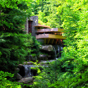 &quot;Day Dreaming&quot;<br /> <br /> This lovely image of the wondrous architecture and landscape of the famous home Fallingwater is enhanced in a delightful way for a magical feel!!<br /> <br /> Laurel Highlands Area of Pennsylvania by Rachel Cohen