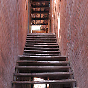 Old stairway entrance still being used today in an area of Clifton, Arizona  known as Chase Creek.