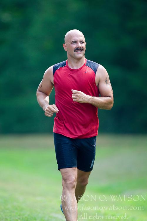 CHARLOTTESVILLE, VA - July 27, 2008 - ALAN ARRUDA in The 2008 Charlottesville International Triathlon was held at Walnut Creek Park in Albemarle County near Charlottesville, Virginia, USA.
