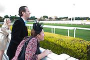 Roma - 07 Novembre 2010.Derby equitazione all' Ippodromo di Capannelle.tifosii a bordopista.foto:Stefano Meluni