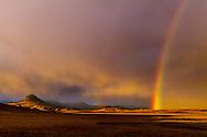 Rainbow near Haystack  Butte west of Augusta
