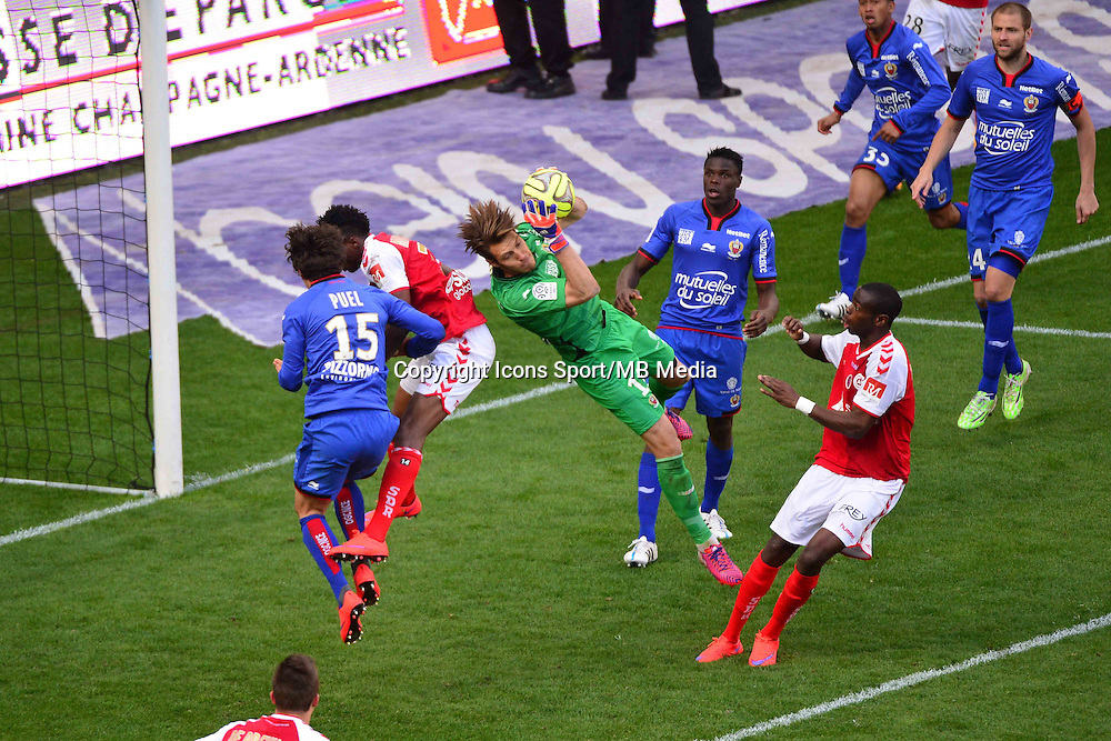 Simon POUPLIN - 12.04.2015 - Reims / Nice - 32eme journee de Ligue 1 <br />