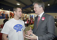 Royal Highland Show 2011. SRU's Chris Patterson and Michael Moore Sec of State for Scotland at the Discovery Centre.