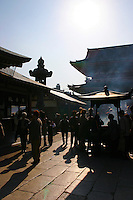 Incense burner at Sensoji i- Tokyo's oldest temple and one of its most significant. Formerly associated with the Tendai sect, it became independent after World War II. Adjacent to the temple is  Asakusa Shrine.