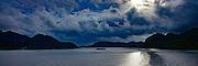 Leaving, Twilight,  Maroa Bay, Huahine, French Polynesia